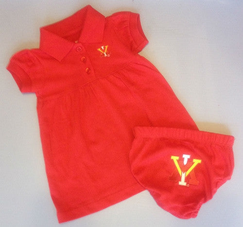 Creative Knitwear VMI Red Polo Dress with Bloomer