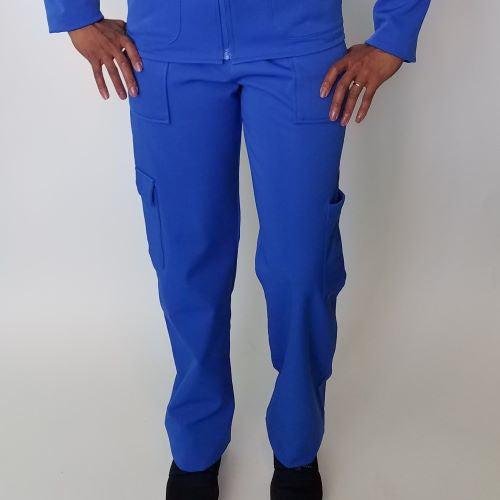 Royal Blue Fleece Lined Medical Pants For Men