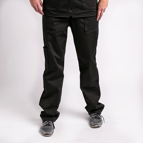 Black Fleece Lined Scrub Pants For Women