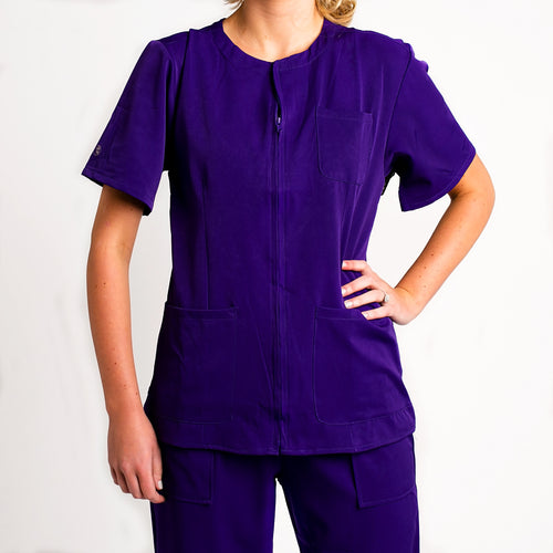 womens-zip-up-scrub-top