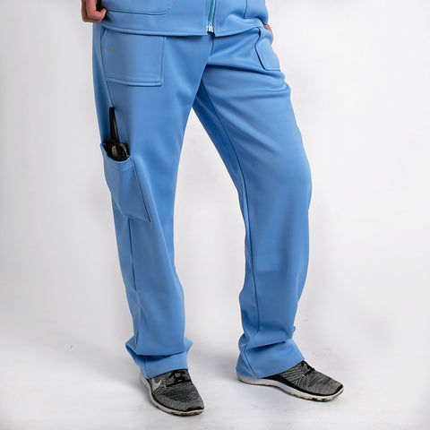 Ceil Blue Fleece Lined Medical Pants For Men