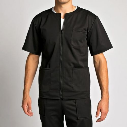 Men's Warm Up Scrub Top