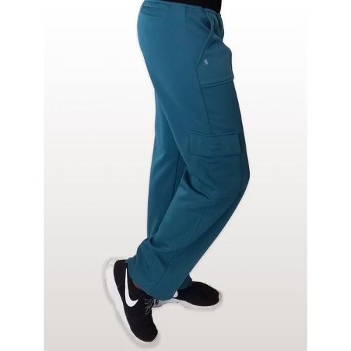 Caribbean Blue Fleece Lined Scrub Pants For Men