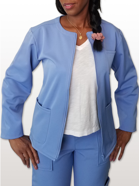 Women's Fleece Lined Scrub Jackets