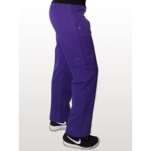 Purple Fleece Lined Medical Pants For Men