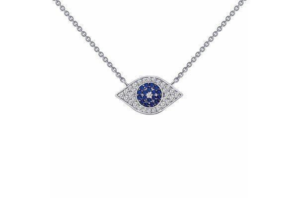 "0.46cttw Evil Eye necklace 18""-Farsi Jewelers"