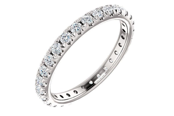 14K French-Set 1ctw Moissanite Eternity Band 123225-Farsi Jewelers