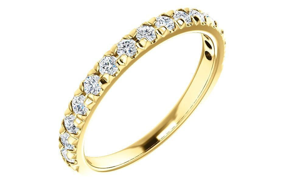 14K Gold 1/2 CTW Diamond French-Set Band-Farsi Jewelers