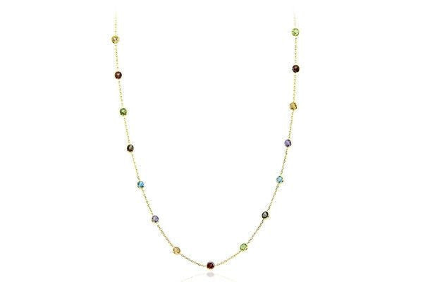 14K Gold Necklace With Gemstones By The Yard-Farsi Jewelers