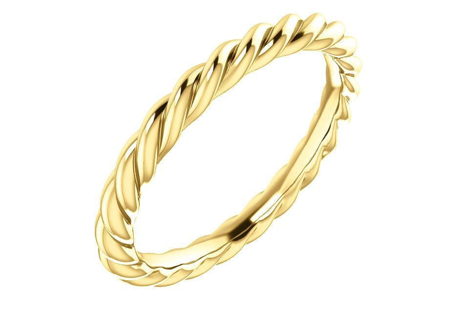 14K Rope Ring 3-MM-Farsi Jewelers