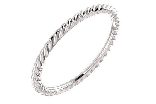14K Skinny Rope Band-Farsi Jewelers
