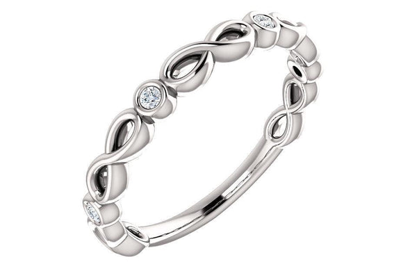 INFINITY-INSPIRED BEZEL SET ANNIVERSARY BAND-Farsi Jewelers