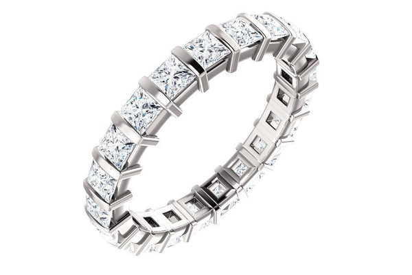 14KW 2.0ctw Square Eternity Band-Farsi Jewelers
