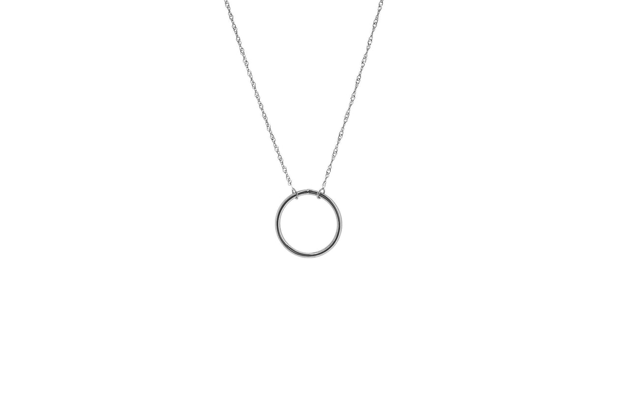 14KW Wire Circle Necklace-Farsi Jewelers