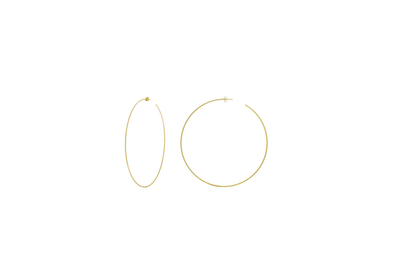 14KY Large Open Hoop 75mm-Farsi Jewelers