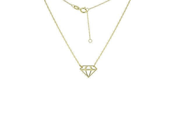 14KY-Mini Cut Out Diamond Adj.neck-Farsi Jewelers