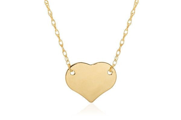 14KY Mini Heart Necklace-Farsi Jewelers