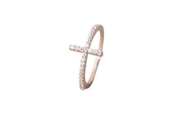 18KR CROSS RING 31DIA=0.20CTTW-Farsi Jewelers