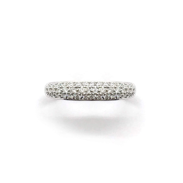 18kw pave dia band 43rb-0.51ctw-Farsi Jewelers