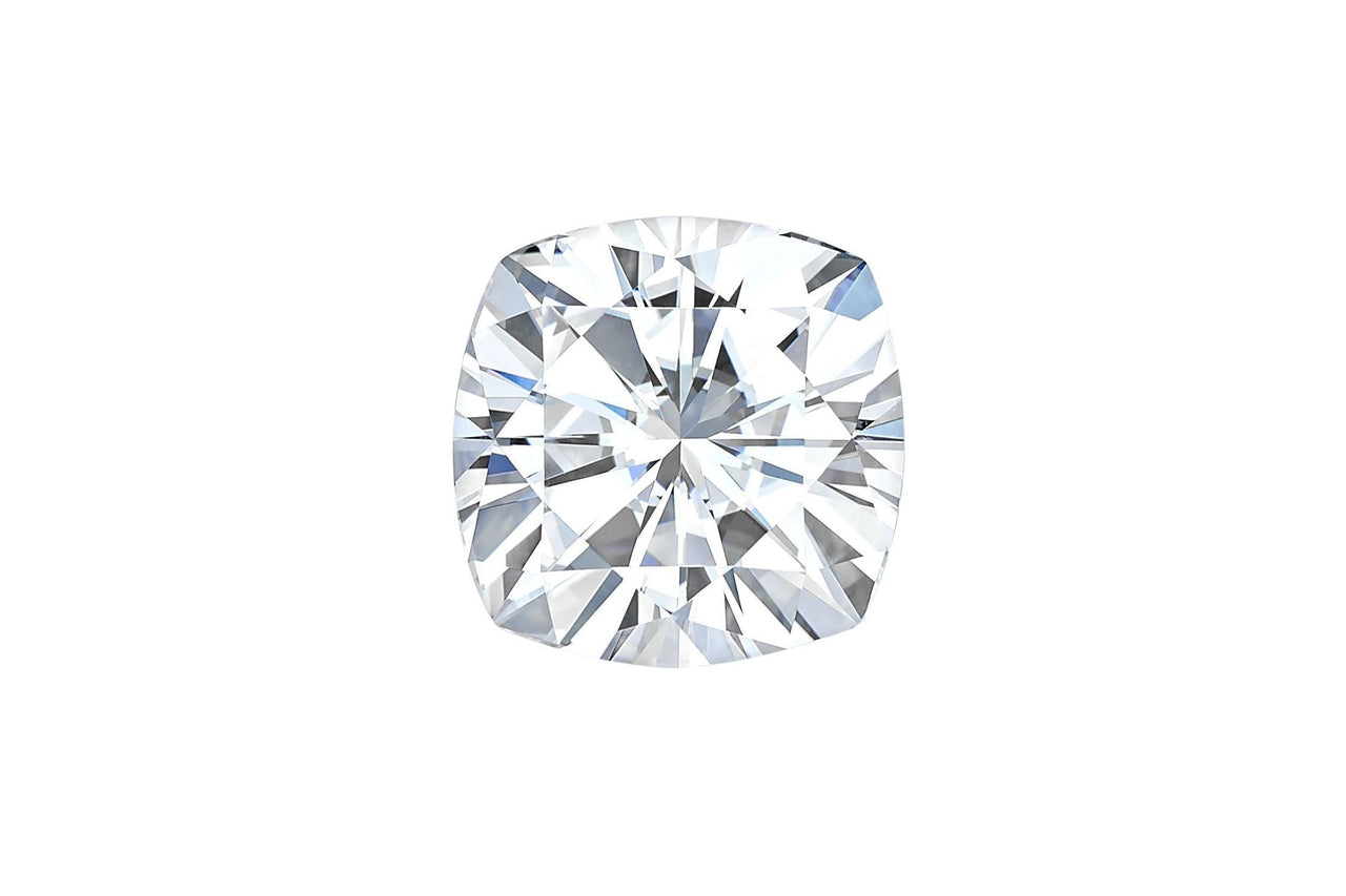 Forever One Cushion Cut Moissanite-Farsi Jewelers
