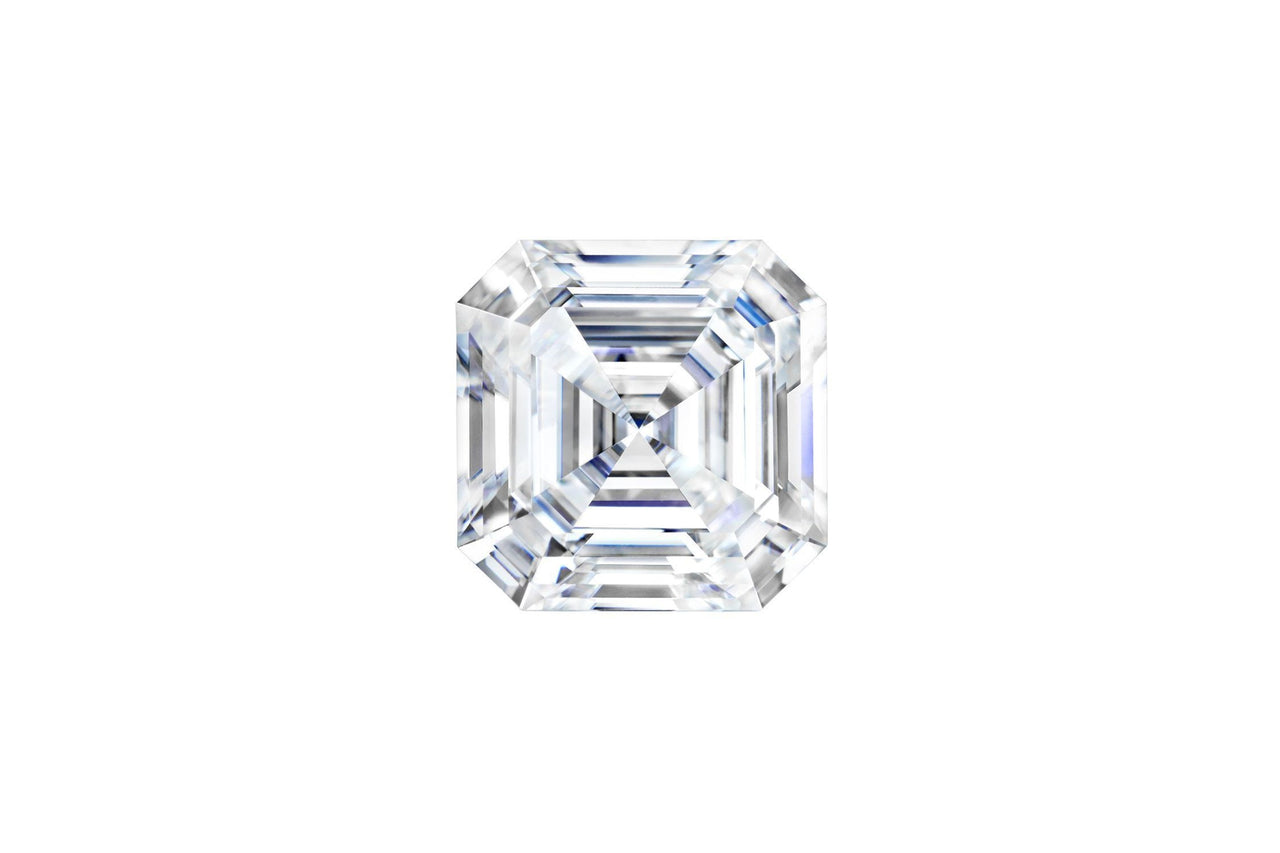 Forever One® Moissanite Asscher cut Colorless D-E-F-Farsi Jewelers