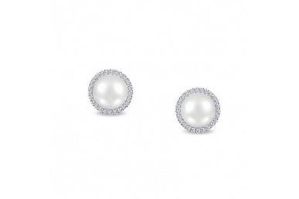 Fresh Water Pearl Halo Earrings E0235PLP00-Farsi Jewelers