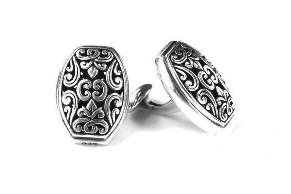 Hand Made Filigree sterling Silver Cuff Links-Farsi Jewelers