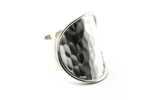 Hand Made Sterling Silver Wide Ring-Farsi Jewelers
