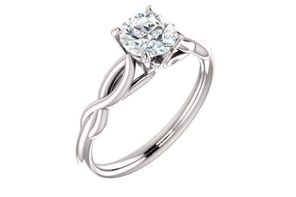Infinity Solitaire Round Forever One™ Moissanite Engagement Ring-Farsi Jewelers