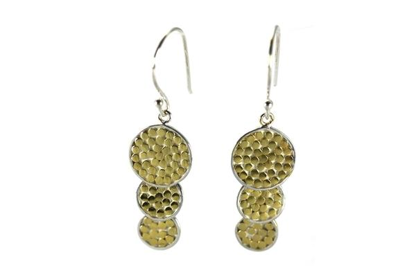 K A L A 925 S. Silver- 18K Gold Vermeil Earrings-Farsi Jewelers