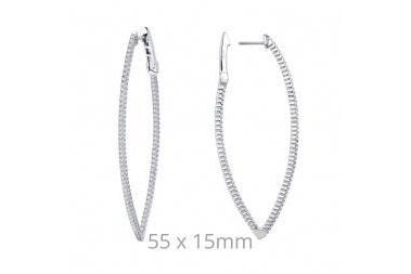 Open Hinged Marquee Shape Earring E3001CLP00-Farsi Jewelers