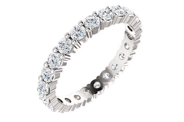 Platinum 1 3/8 CTW Diamond Round Eternity Band-Farsi Jewelers