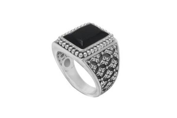 S. SILVER ONYX RING-Farsi Jewelers