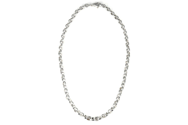"S U R A 925 S. Silver Flowing Rolo Adj. Chain Necklace 21""-Farsi Jewelers"
