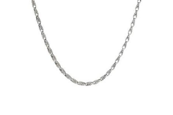 SILVER S NECKLACE WITH BALINESE CARVED LOBSTER LINKS-Farsi Jewelers