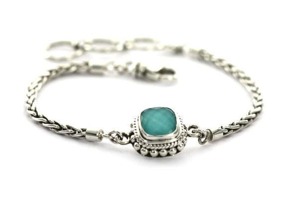 Silver Turquoise Bracelet Adjustable-Farsi Jewelers