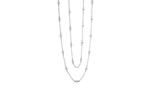 Simulated Diamond by Yard Necklace-Farsi Jewelers
