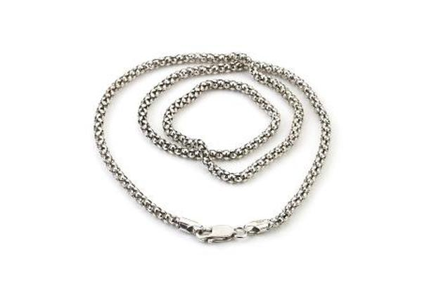 SS 3MM OXIDIZED POPCORN CHAIN-Farsi Jewelers