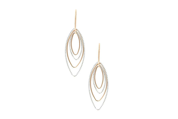 SS AND ROSE GOLD PLATED BARBARA EARRINGS-Farsi Jewelers
