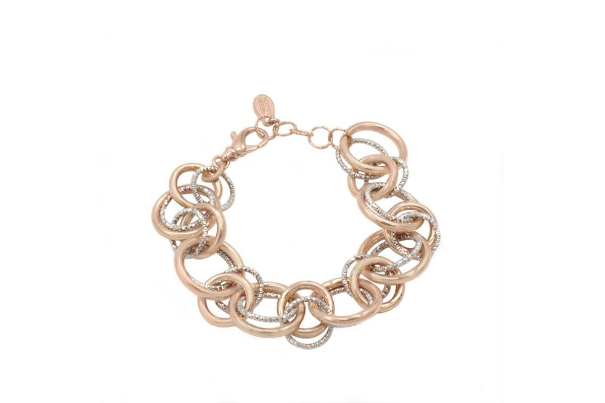 SS and Rose Gold PLated Willow Bracelet-Farsi Jewelers