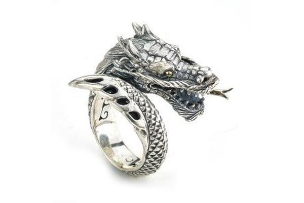 SS/18K DRAGON RING-Farsi Jewelers