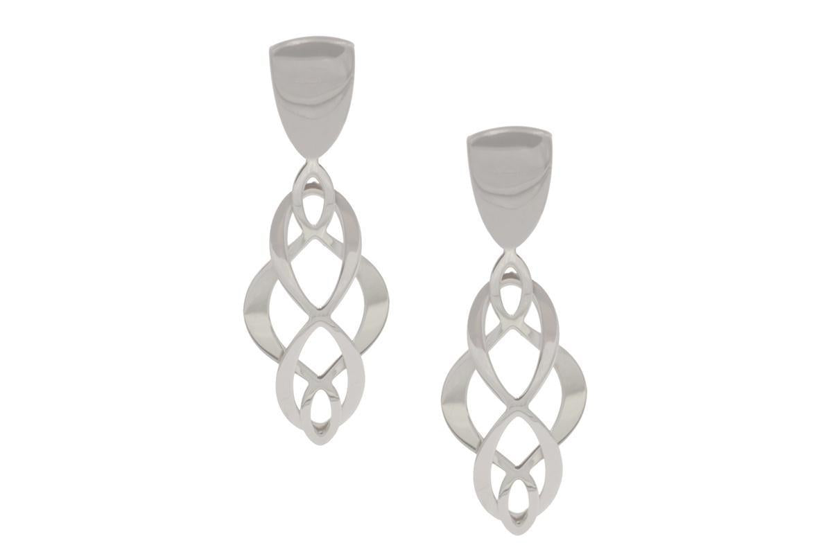 STERLING SILVER CELTIC SWIRL EARRINGS-Farsi Jewelers