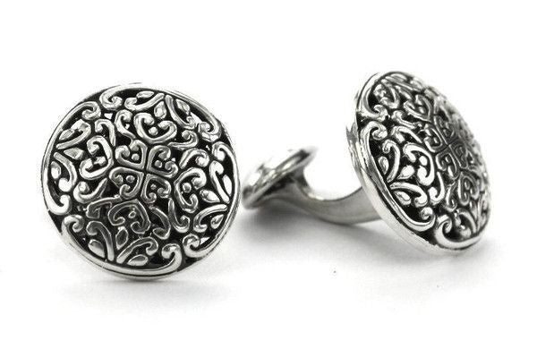 Sterling Silver Hand Made Cuff Links-Farsi Jewelers