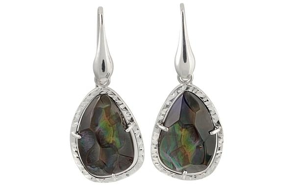 Sterling Silver Mother-of-Pearl Earrings Frederic Duclos-Farsi Jewelers