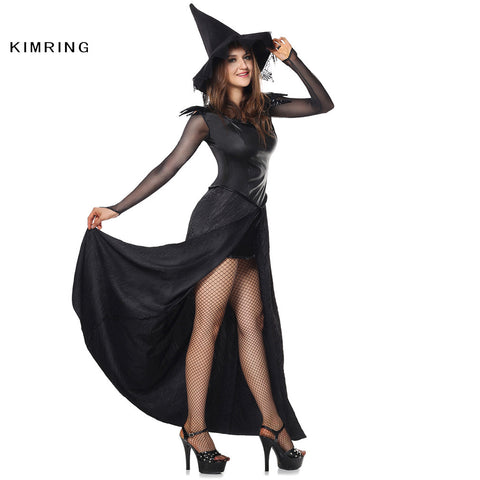 6e832d1d98b Sexy Witch Halloween Costume Adult Womens Magic Moment Costume Ecstasy Black  Halloween Costume Fancy Dress
