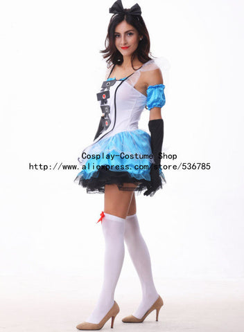 plus size xl alice in wonderland costume maid fantasia fairy tale cosplay halloween costumes for women