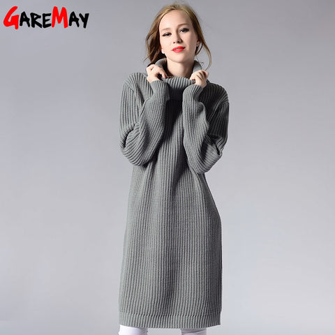 a60bf850d4 Women Long Sweater Turtleneck Young Ladies Fashion Autumn Winter Retro  Pullover Thick Knit Sweater For Women