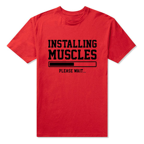d6fc011d INSTALLING MUSCLES FUNNY PRINTED MENS T SHIRT GYM LIFTBRO WORKOUT SLOGAN  BIRTHDAY TShirt Tee Unisex More