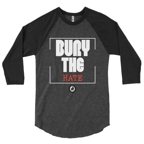 Bury The Hate Raglan Tee t-shirt- Rowlhen, LLC