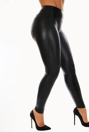 AERON - LEATHER LOOK LEGGINGS